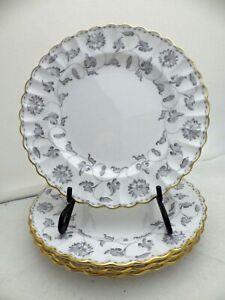 Spode-Colonel-Gray-pattern-set-lot-of-4-Salad-plates-8-034-1964-EUC