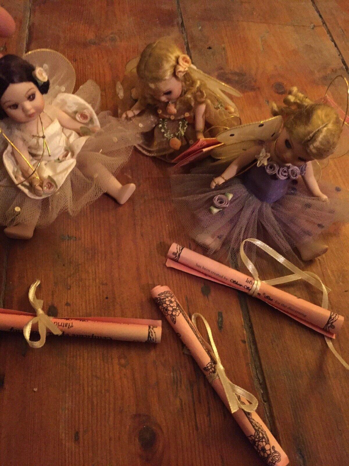 3 FIRENZE maranuk da Collezione Bambola di porcellana con i certificati RARO da USA