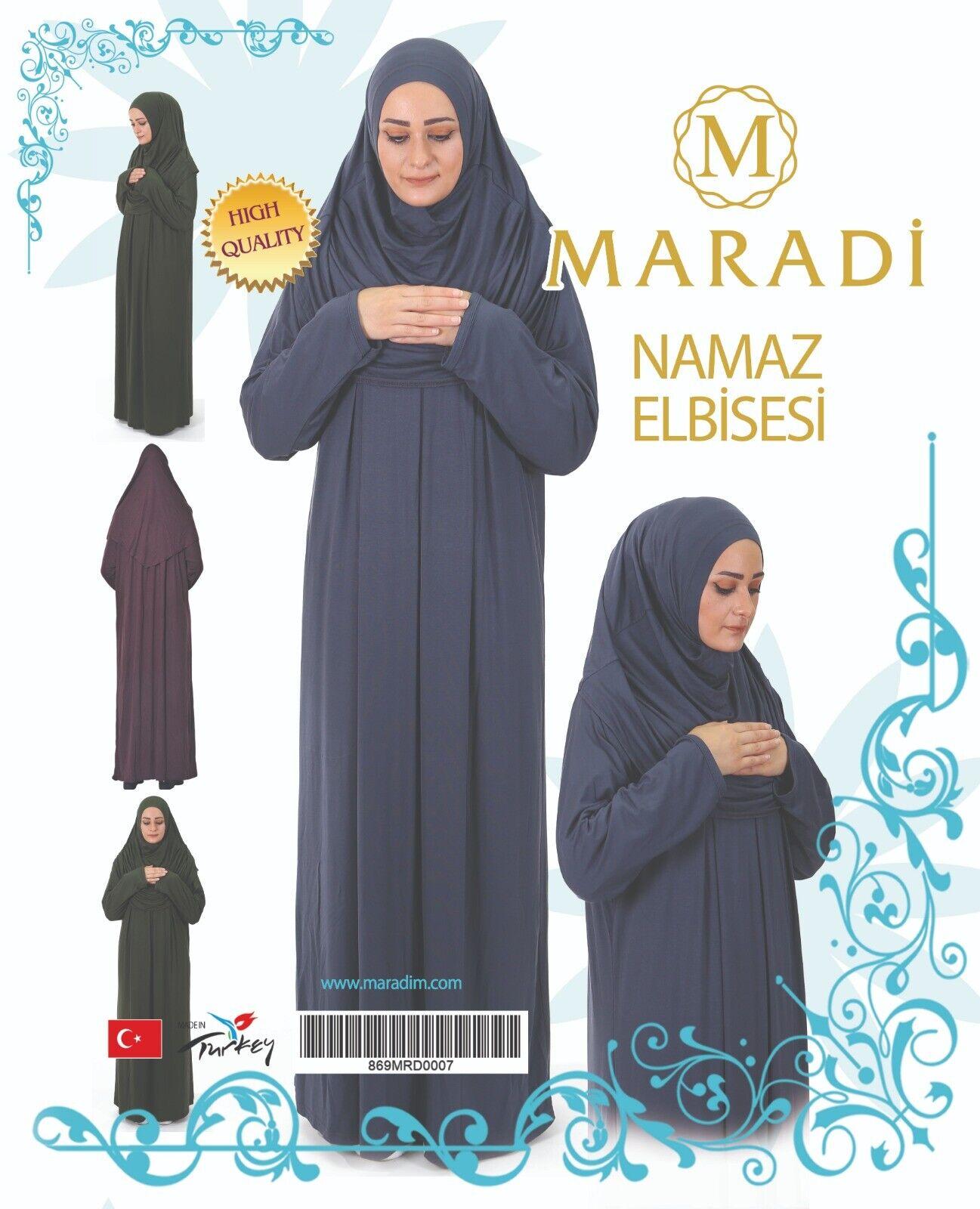 Quality Turkish Turlu Ladies Abaya prayer cloth 1pc standard size with scarf