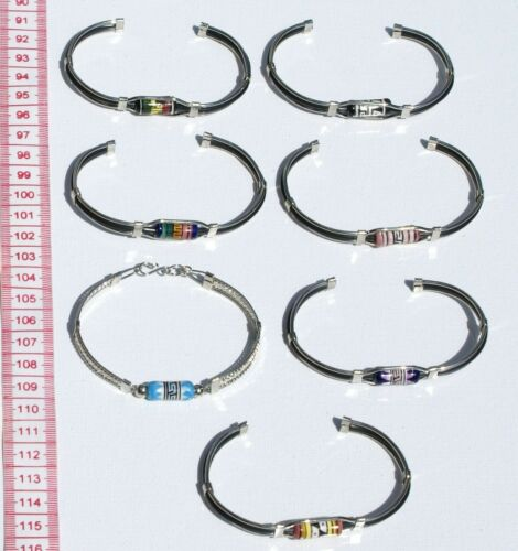 Handmade Acai /& Morototo Biojewel Bracelet-Triple Strand in the MIddle