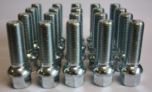 20 X M14 X1.5 45mm Lang Kugelbund Leichtmetall Radbolzen Passend