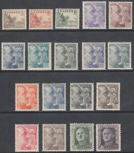 Serie-Cid-et-General-Franco-1044-1061-Annee-1949-Luxe-MNH