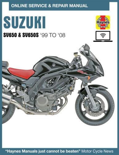 Suzuki SV650S Haynes Online Repair Manual