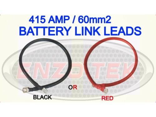 POSITIVE NEGATIVE EARTH STRAP BATTERY STARTER CABLE LEAD HEAVY DUTY RED BLACK