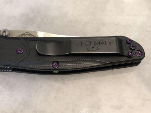 Purple Screws Set For Benchmade 940-1 /& 940-2 Scale /& Pocket Clip screws 11pcs