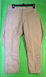 Vintage-1930-s-Khaki-Pants-2-50-wt-Boat-Sail-Drill-Pockets