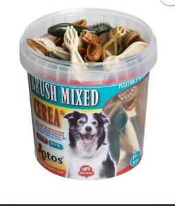 Antos-Cerea-XS-Mini-Tooth-Brushes-Mixed-Tub-of-50-pcs-Vegetarian-Dog-Chews