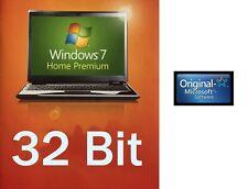 Windows 7 Home Premium DVD 32 Bit SP1 Lizenzkey  Multilanguage