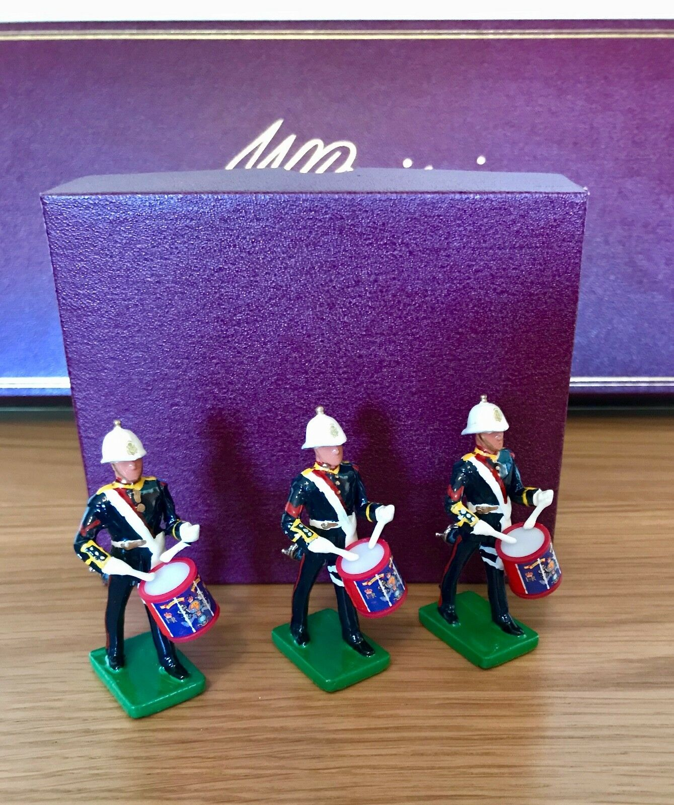 Britains Royal Marines NCO Bugler Side Drummers  - three models