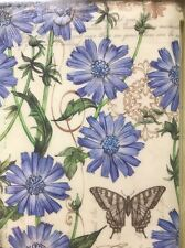 iPad 2 3 4 Snap On Case Blue Chicory Flowers Butterfly Lang Blue Tim Coffey Art