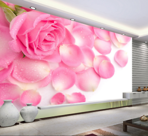 3D pink Blütenblatt Muster6 Tapete Tapeten Mauer Foto Familie Tapete Wandgemälde