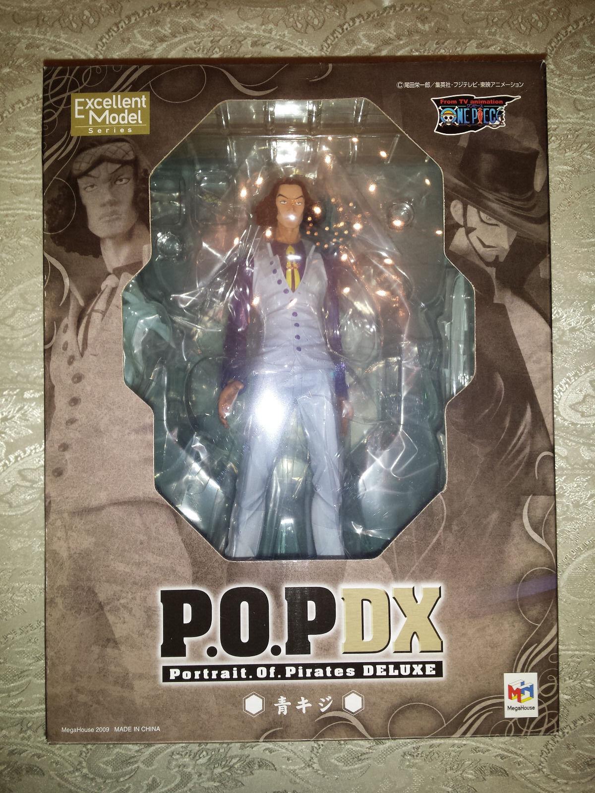 Aokiji Kuzan One piece 1 8 Megahouse 1° stampa P.O.P.  DX PVC statua POP  designer online