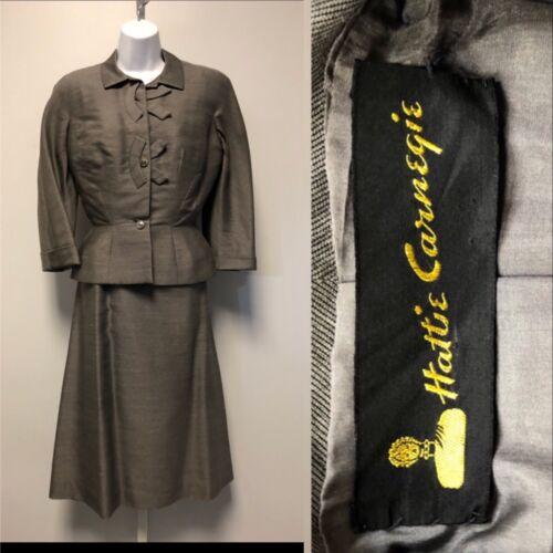 VTG 1950' Hattie Carnegie 2pc Lady's Suit . 1950'D