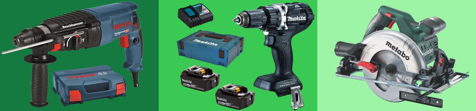 Profi-Werkzeug von Bosch, Makita & Co.