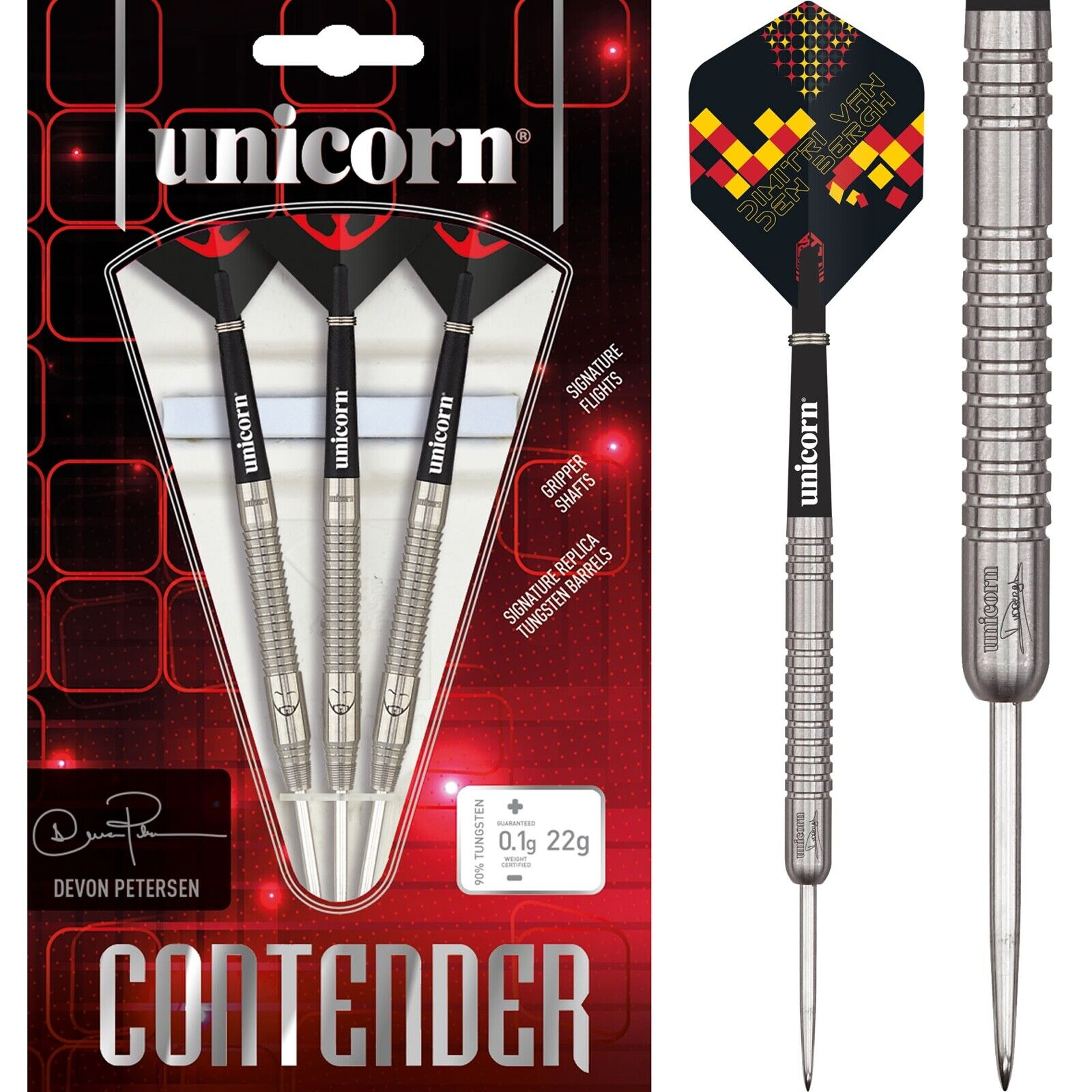 Unicorn Dimitri Van Den Bergh Dart Flights The Dream Maker 22g-24g Darts