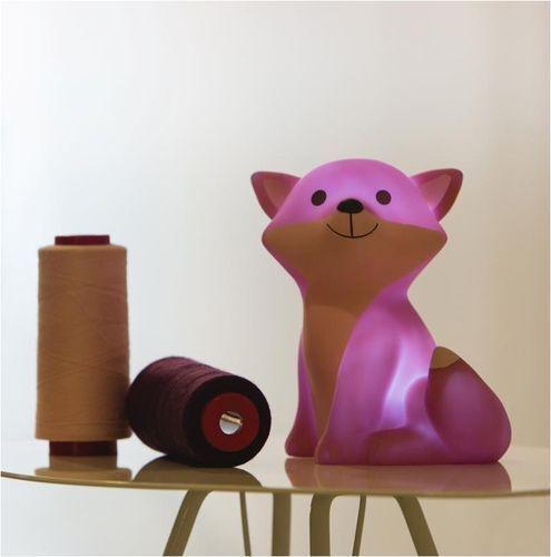 ATELIER PIERRE Ceasar Fox LED Lampe pink//lila NEU//OVP Fuchs Nachtlicht Leuchte