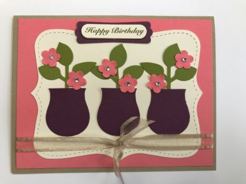 Coral Birthday Blooms Card Kit Stampin/' Up