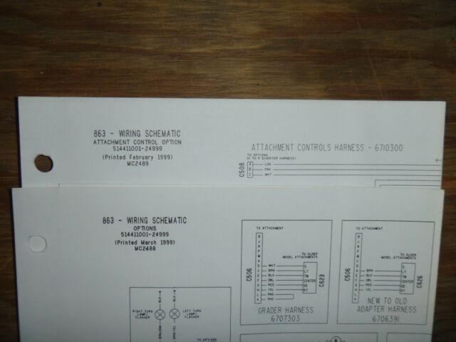 Bobcat 863 Skid Steer Electrical Wiring Diagram Schematic Manual 514411001
