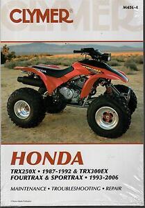 1987-1992-CLYMER-HONDA-ATV-TRX250X-FOURTRAX-amp-SPORTRAX-SERVICE-MANUAL-M456-4