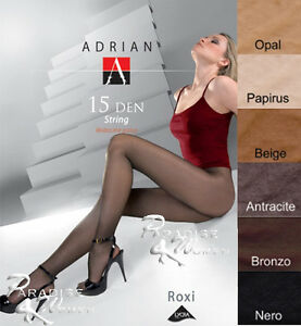 Exclusive-T-Band-Tights-Adrian-034-ROXI-STRING-034-15-Denier-6-Colours-Size-S-M-L