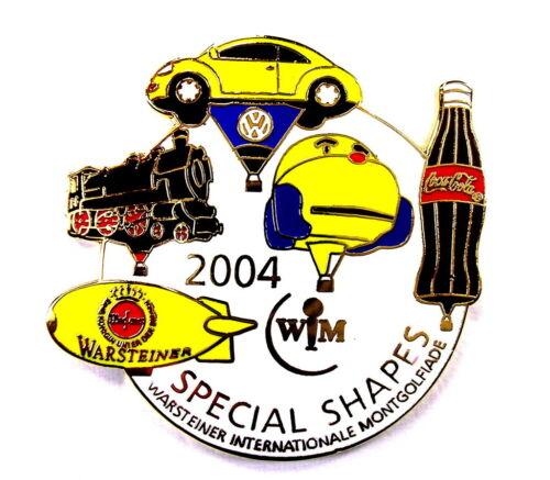 WARSTEINER BALLON Pin SPECIAL SHAPES 2004 mit VW /& COCA COLA Pins 3243