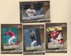 2019-TOPPS-SERIES-1-TOPPS-NOW-INSERTS-A-Judge-R-Acuna-Jr-S-Ohtani-4-CARD-LOT