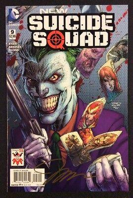 New Suicide Squad 9 Comic Book Joker Variant Signed Jim Lee Coa Dc 2015 Nm Ebay