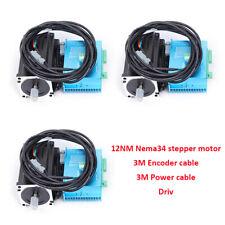 Nema34 12nm Closed Loop Stepper Motor Hybrid Ac Servo Driver Kit 3axis 86hbs120