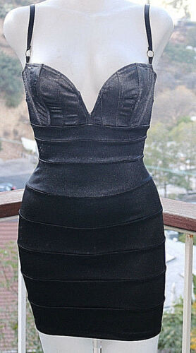 XS Mark Wong Nark Ombre Gray Black Bodycon Bandage