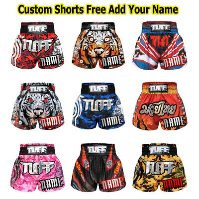 da301b633c5c95 Details about TUFF Muay Thai Kick Boxing Shorts MS6A Custom Free Add Name  Personalize MMA