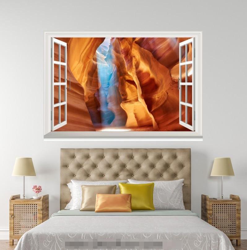 3D View Cave 606 Open Windows WallPaper Murals Wall Print Decal Deco AJ Summer
