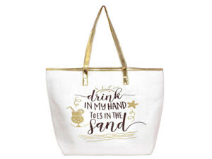 Details About 20 X 14 Large Zipper Top Summer Themed 100 Paper Tote Beach Bag Gift Idea