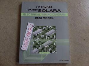 2006 Toyota Camry Solara Electrical Wiring Diagram Manual ...