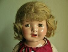 ANTIQUE VINTAGE COMPOSITION GIRL DOLL, 22""