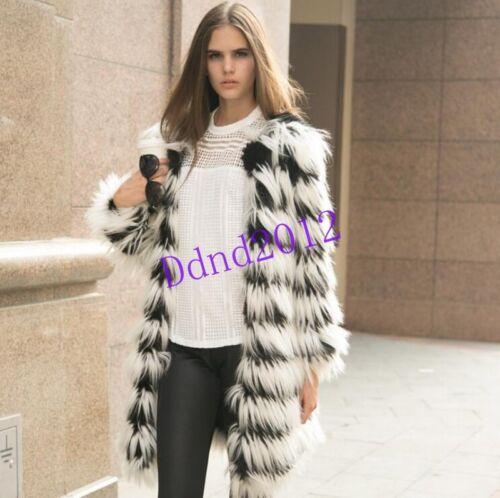 Fox lungo Furry Womens soprabito Warm Cappotto Outwear Tassel soprabito Fashion Fur qppREP