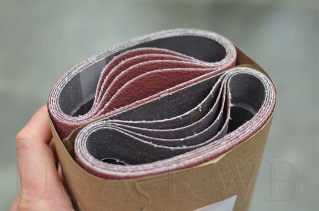 """Abrasive Sanding Belt  2/"""" x 72/"""" Grade 80 2 Belts  3M 577F Film-Lok"""