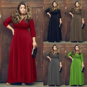 Plus-Size-New-Women-Formal-Long-Maxi-Evening-Party-Ball-Prom-Gown-Cocktail-Dress