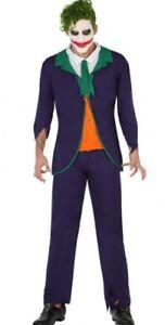Déguisement Clown Joker Violet Homme Xl Dessin Animé Cinéma Film Batman Neuf