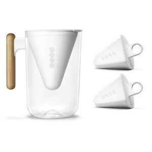 Soma 2.3L White Jug/Pitcher & 3pc Plant Based Water Filters Set Combo