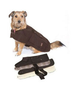 DrizaBone-Oilskin-Dog-Coat-Size-XSMALL-Warm-Cotton-Lining