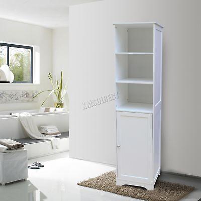 WestWood Wall Mount Wooden Bathroom Cabinet Tall Shelving Unit Storage Cupboard