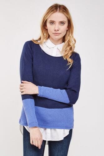 Ladies Ex Old Navy Round Neck Full Sleeve Block Color Winter Jumper Top