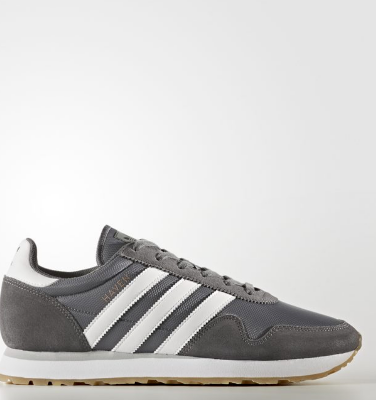 Adidas Haven Unisex Original GREY   WHITE   BROWN BY9715 Size 4-11 Limited