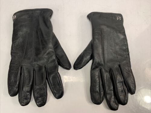 Men's Elma Black Lambskin Leather Gloves Size 9 Me