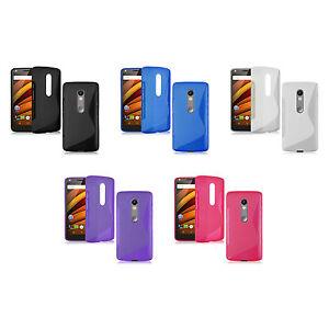para-Motorola-Moto-X-FUERZA-Sintetico-Funda-s-line-silicona-gel