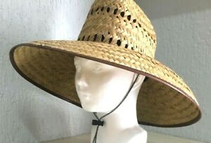 Men-039-s-Lifeguard-Palm-paille-chapeau-de-soleil-SUMMER-SPECIAL