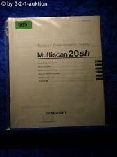 Sony Bedienungsanleitung GDM 20SHT Multiscan 20sh Graphic Display (#0969)