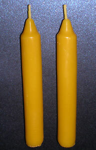 2x-Handmade-100-Pure-Beeswax-Solid-Table-Taper-Dinner-Church-Candles-12cmx1-5cm