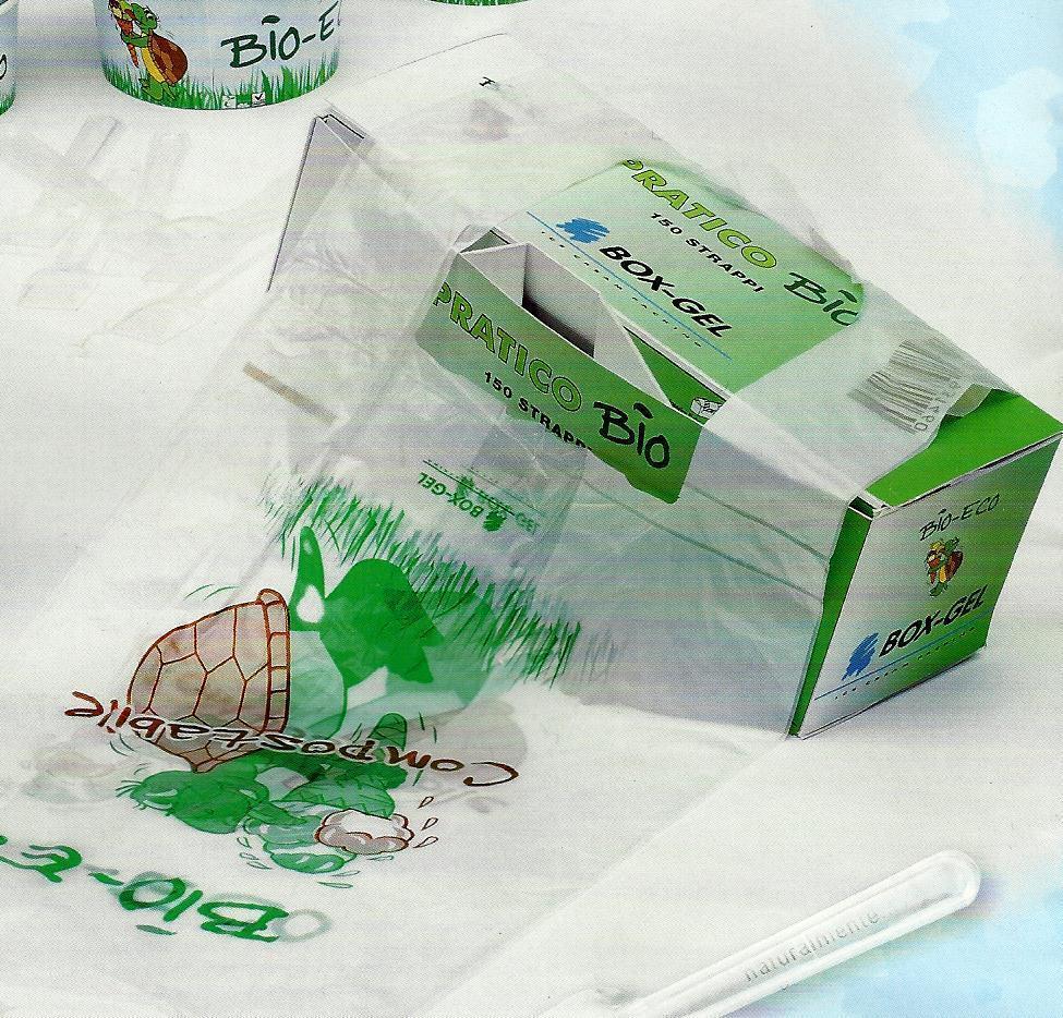PZ 600 BUSTE PLASTICA BIOLOGICA 23 X 50 SACCHETTO BORSA SHOPPER A ROTOLO BIO
