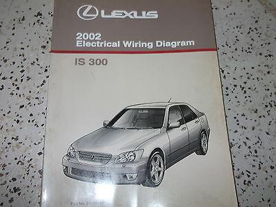 2002 Lexus Is300 Is 300 Electrical Wiring Diagram Service Shop Repair Manual X Ebay